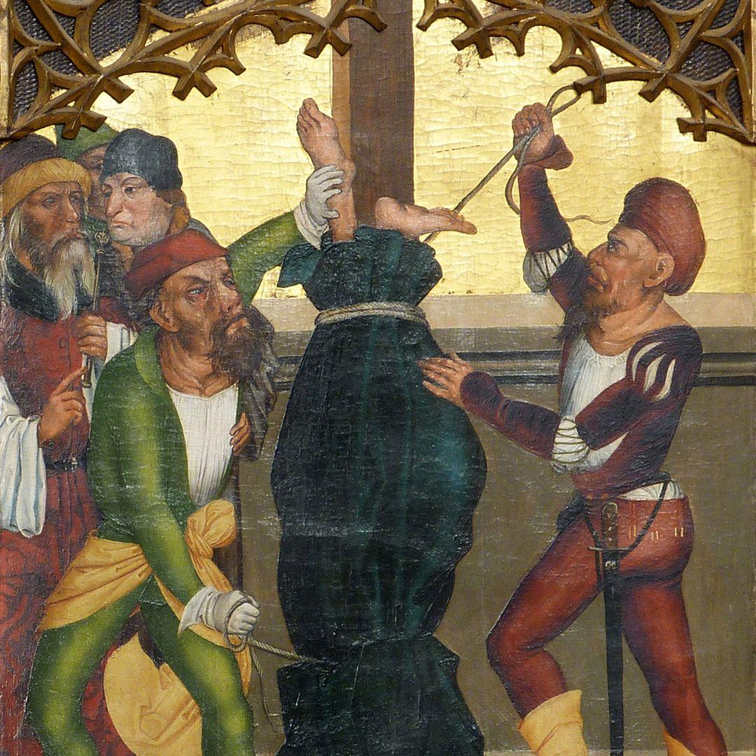 Tafeln des Harsdörffer Altars Kreuzigung des Petrus, Detail