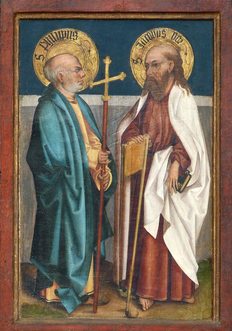 Tafeln des Harsdörffer Altars Philippus und Jacobus minor