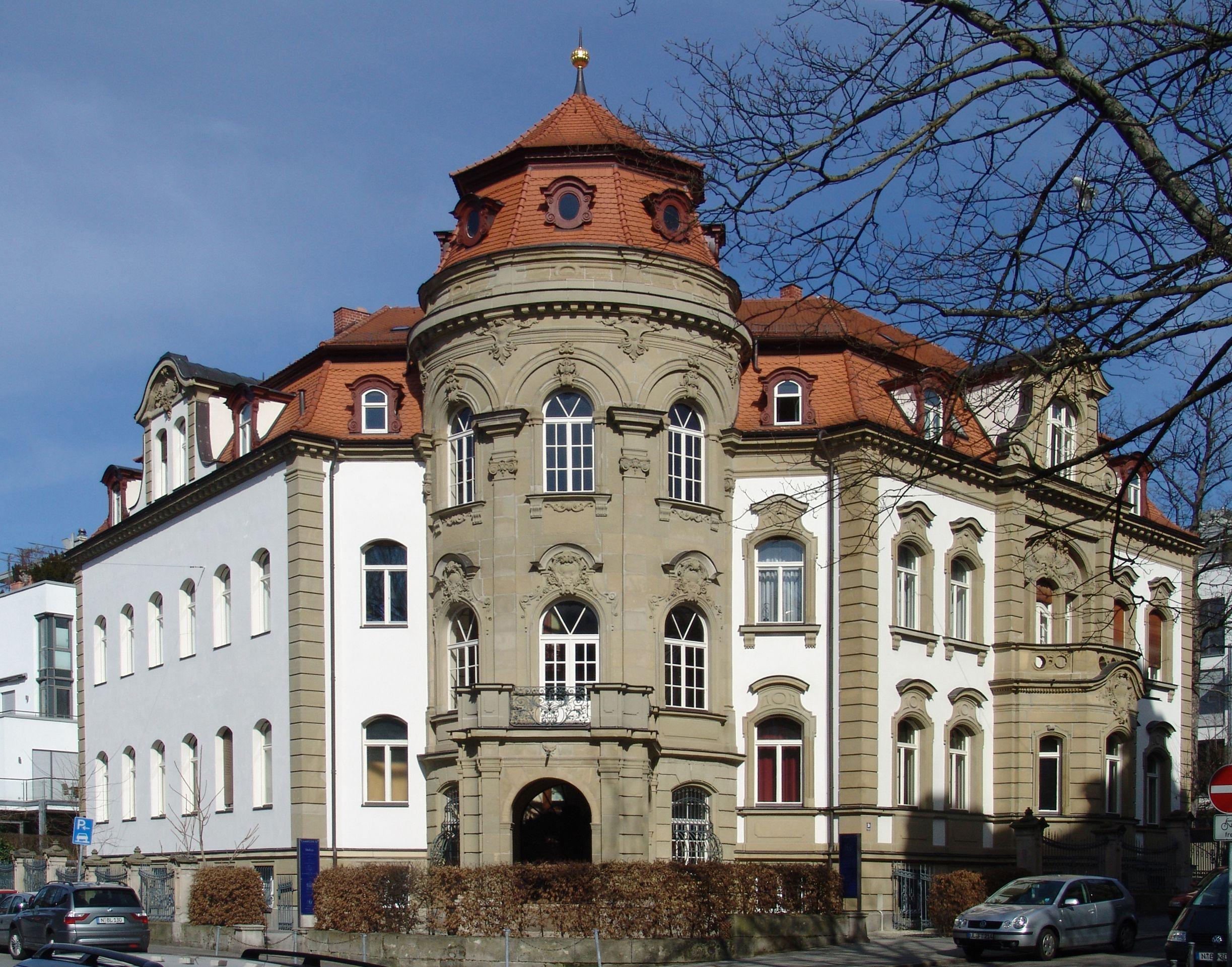 """Campestraße 10, ehem. """"Villa Kohn"""" Eckansicht Campe-Frommannstraße"""