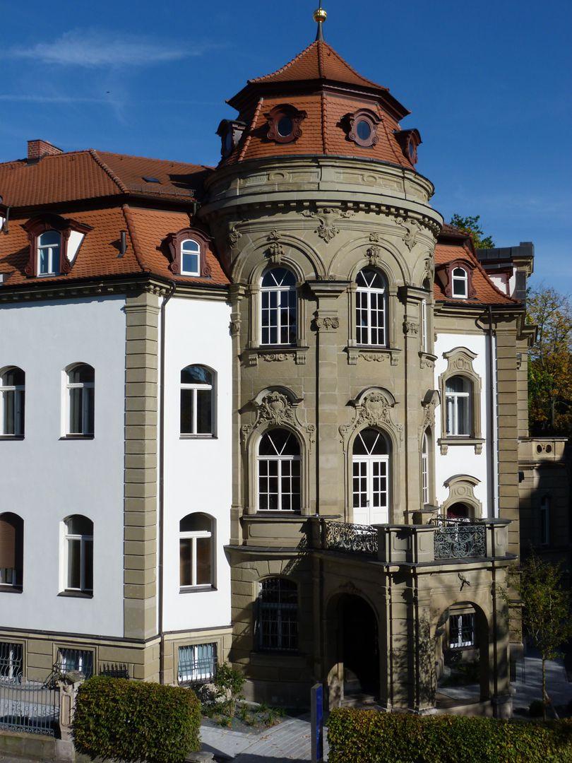 """Campestraße 10, ehem. """"Villa Kohn"""" ovaler Treppenhauspavillon"""