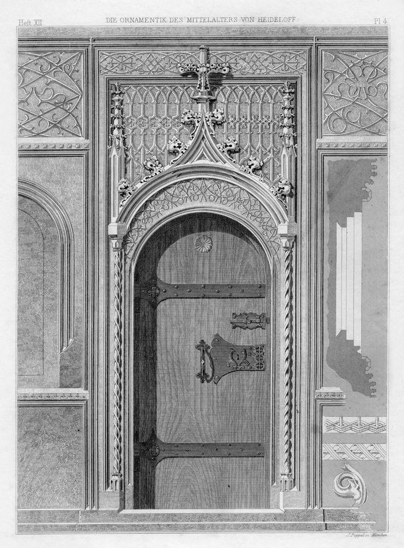 Ornamentik des Mittelalters Nürnberg, Burgstraße, ehemaliges Scheurlsches Haus, Holzvertäfelung