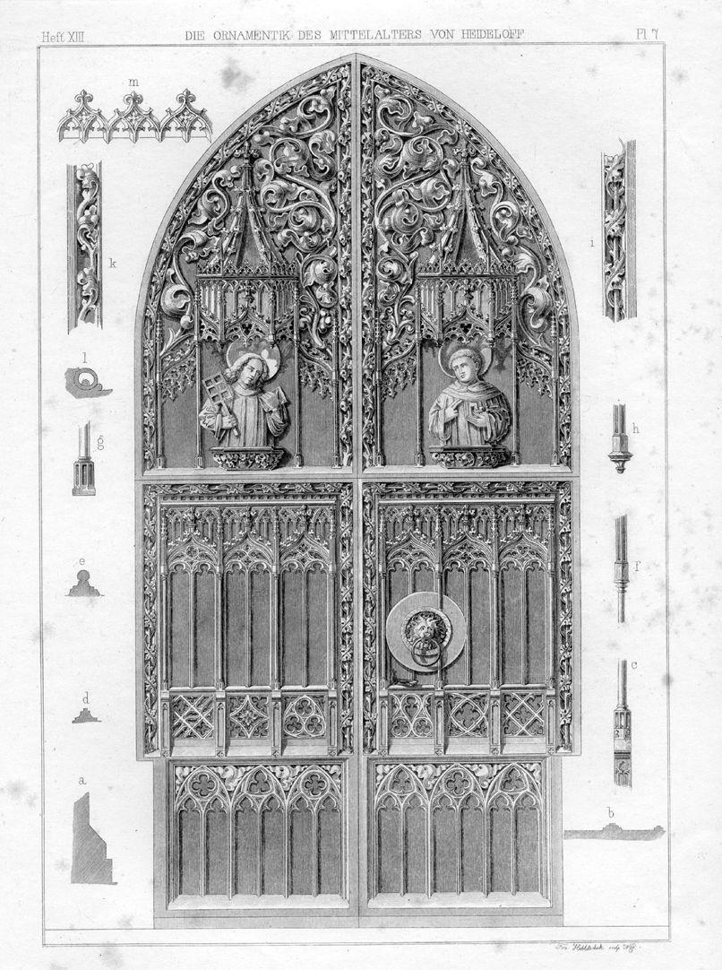 Brautportal Ornamentik des Mittelalter von Heideloff, Heft XIII PL 7