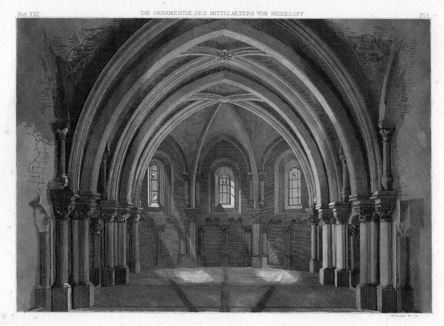 Ornamentik des Mittelalters Michaelschor von St. Sebald, Inneres nach Westen