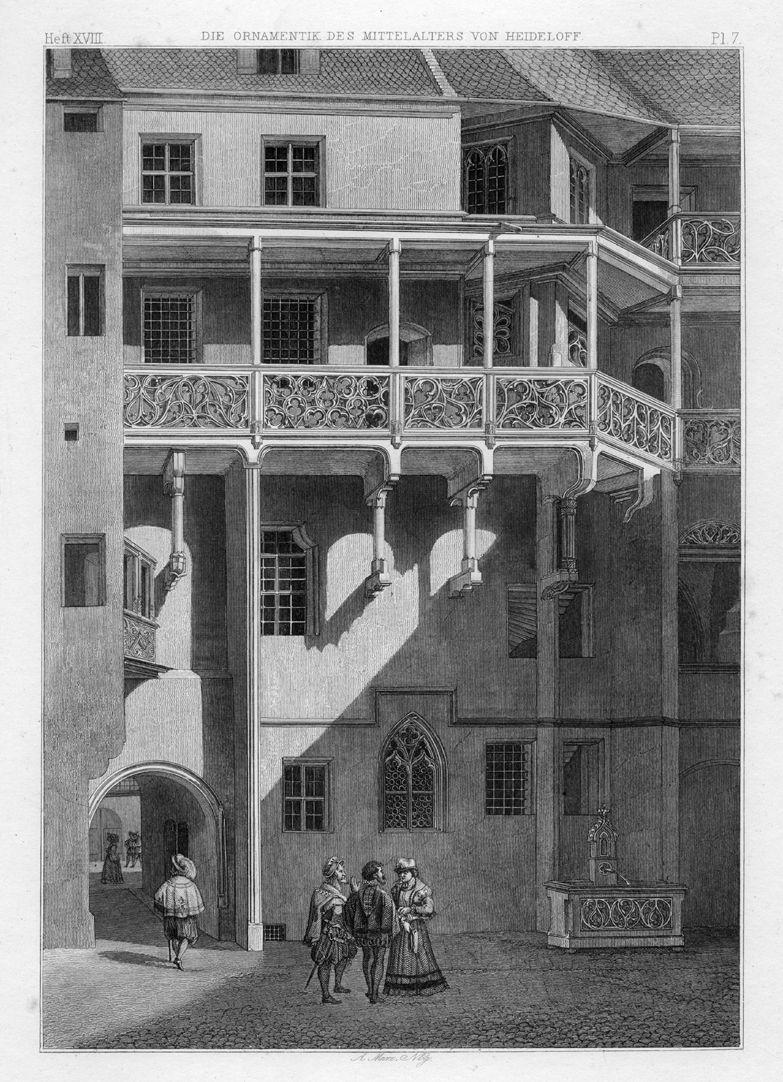 Ornamentik des Mittelalters Großer Rathausinnenhof von Hans Behaim