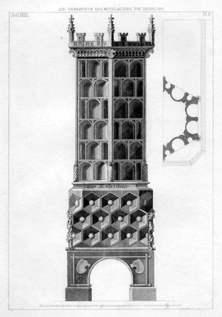 Ornamentik des Mittelalters Kachelofen im Hohen Schloss zu Füssen