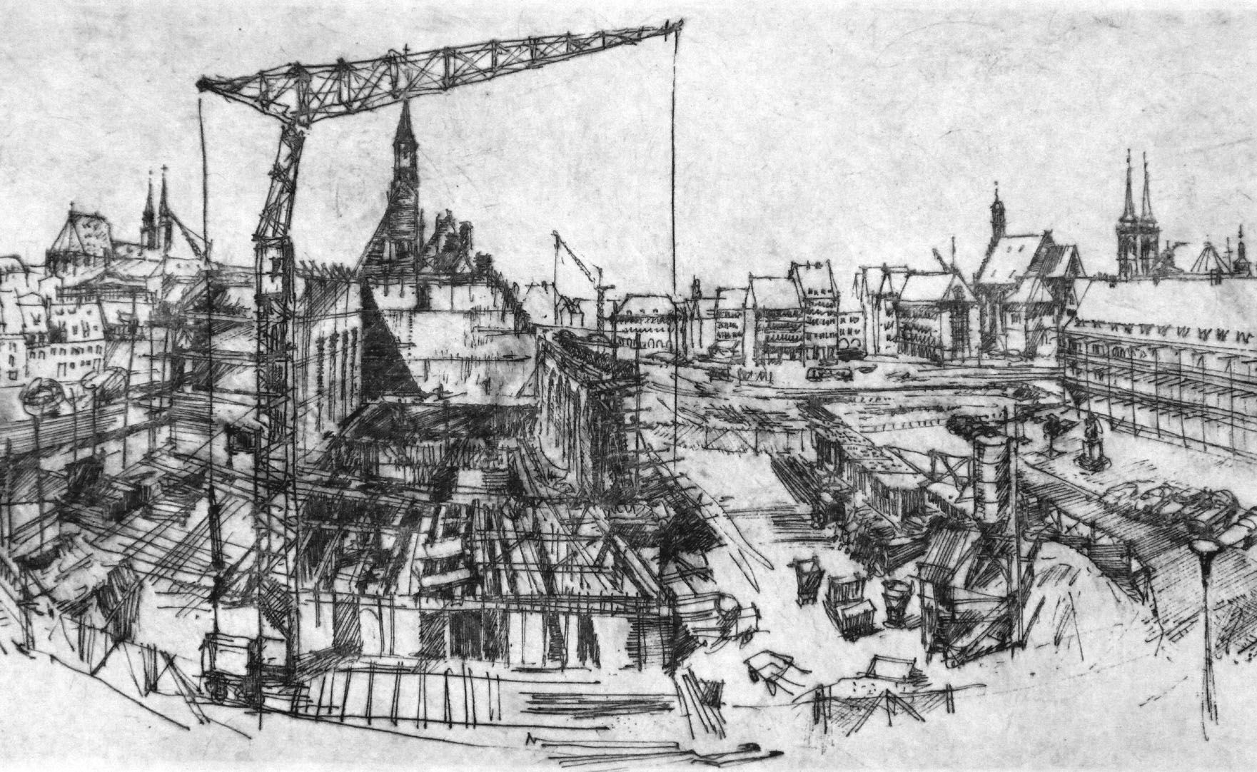 Neubau am Heilig-Geist-Spital Bildmitte