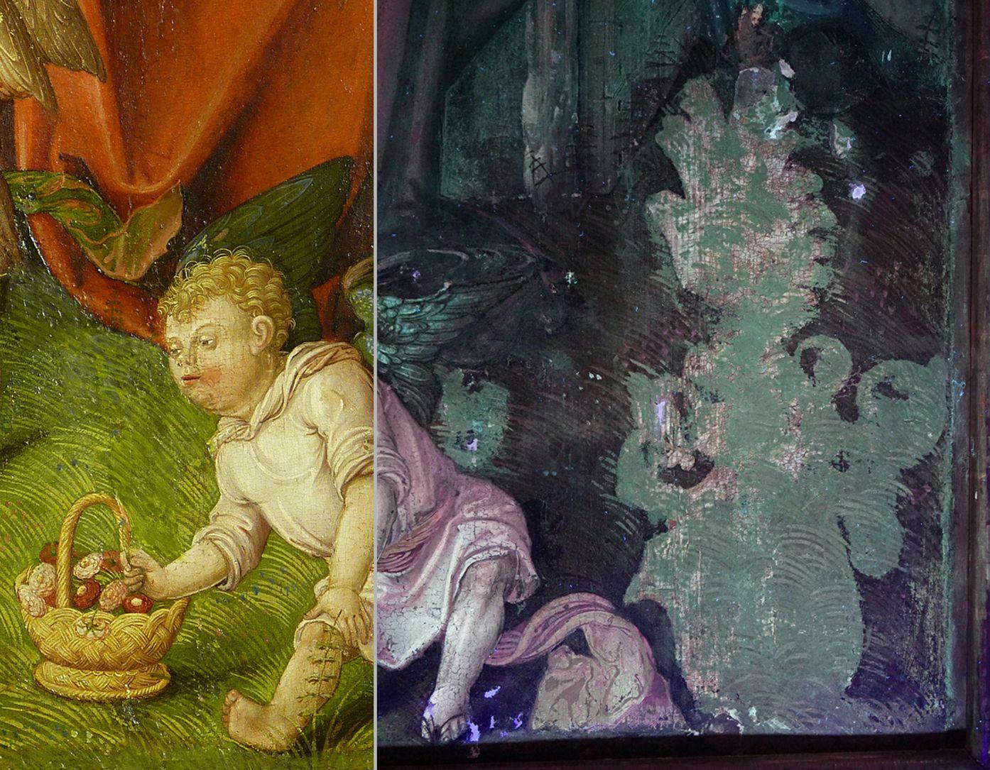 Heilige Sippe UV-A Aufnahme der rechten unteren Bildecke