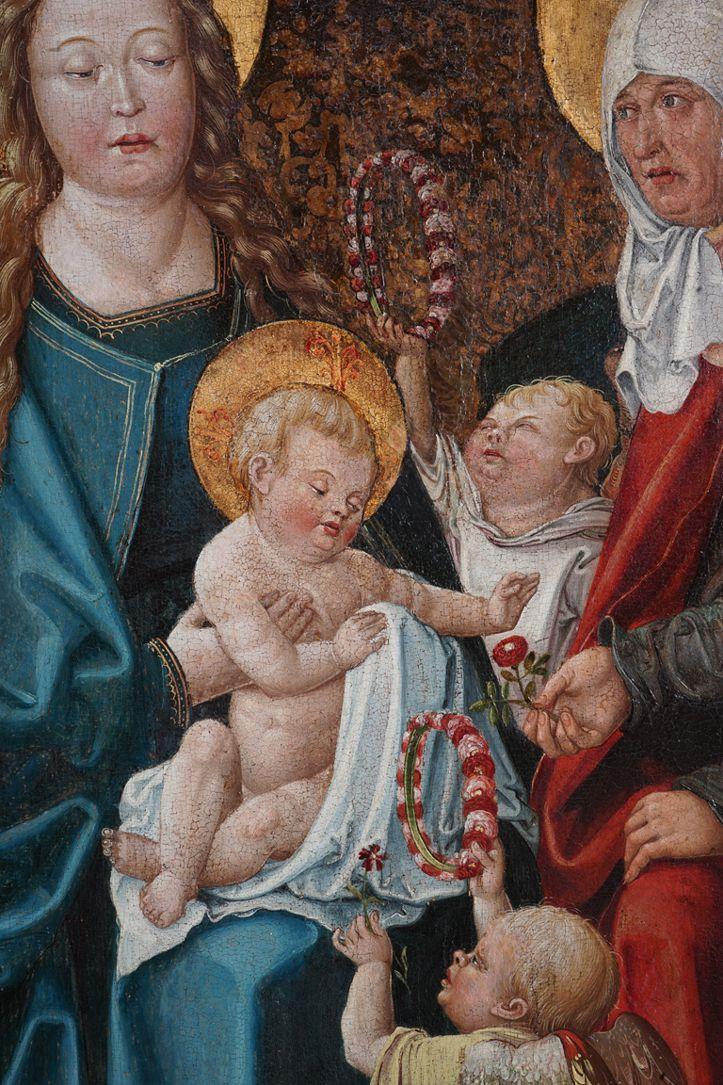 Heilige Sippe Maria, Anna und das Jesukind mit zwei Engeln