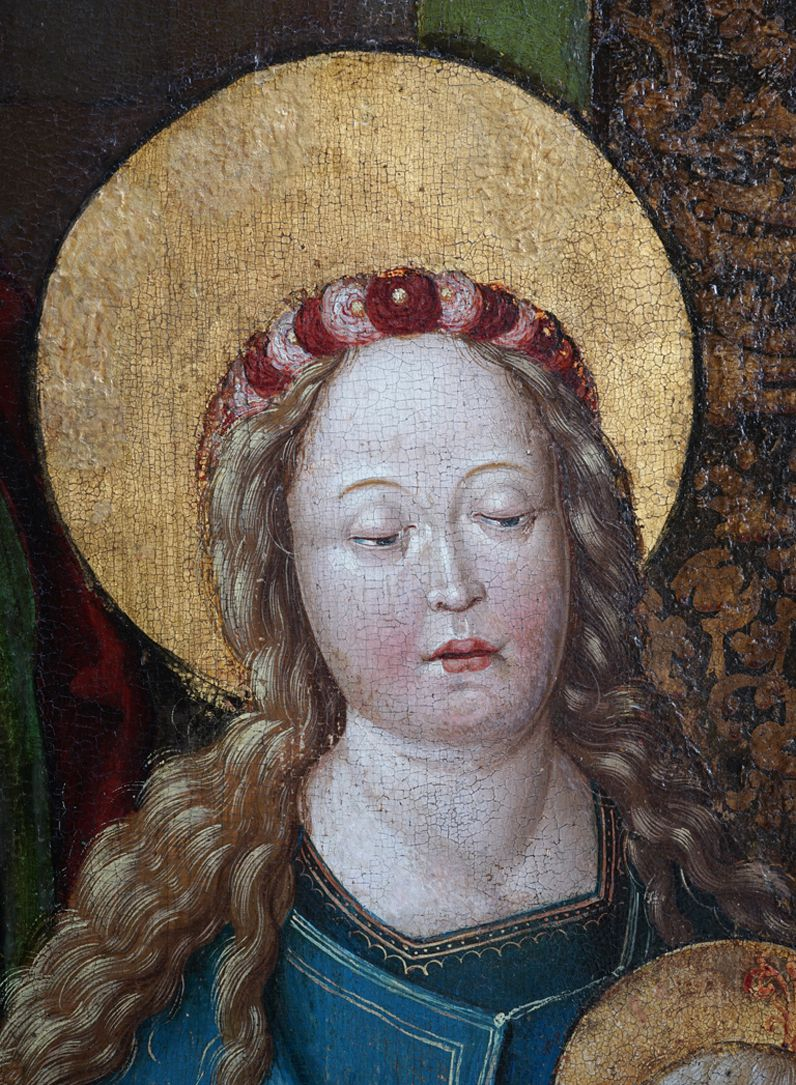 Heilige Sippe Kopf der Maria