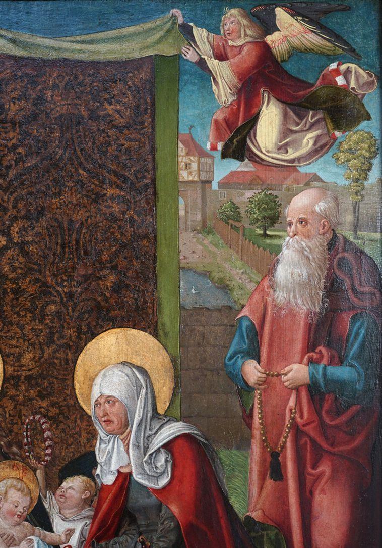 Heilige Sippe Bildausschnitt der rechten oberen Ecke