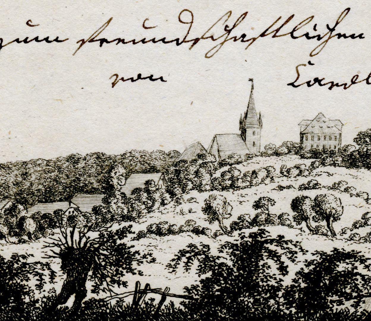 Heroldsberg Ansicht mit Heroldsberg, St. Matthäus und Rotem (?) Schloss