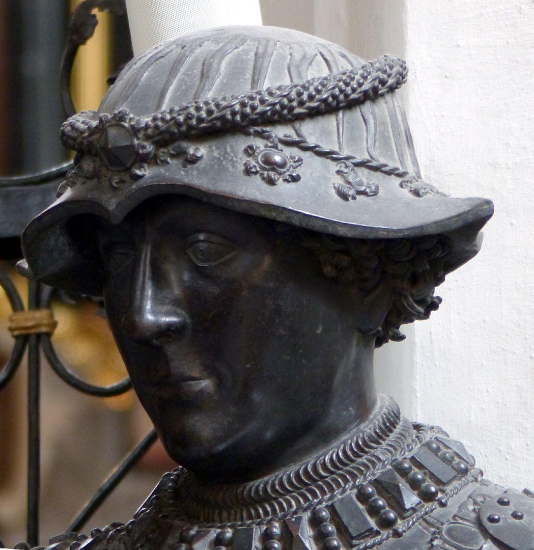 Herzog Karl der Kühne von Burgund (Innsbruck) Kopf mit Hut