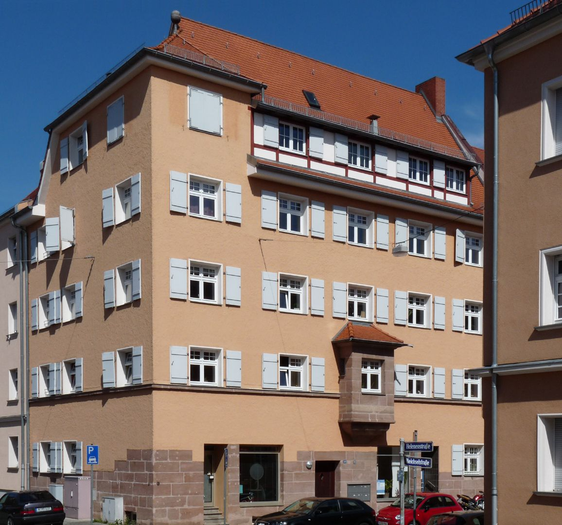 Wohnhaus, Weichselstraße 10 Gesamtansicht von SW