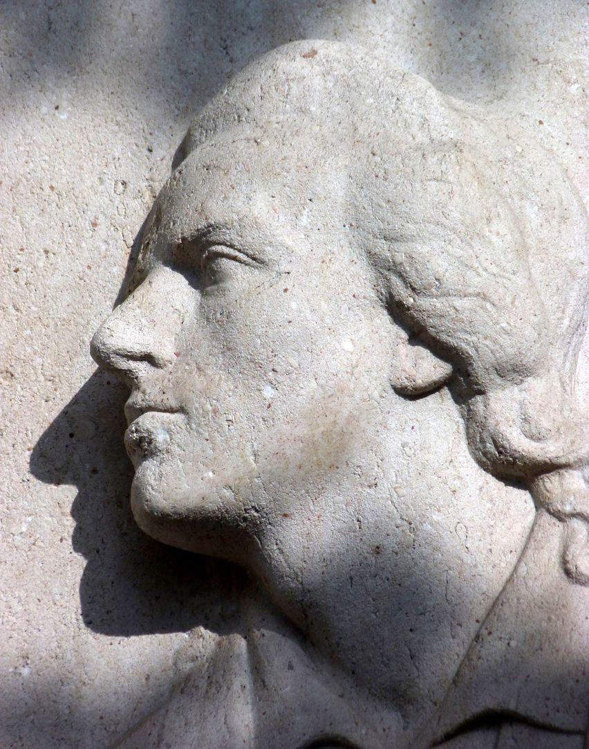 Schillerdenkmal Kopf