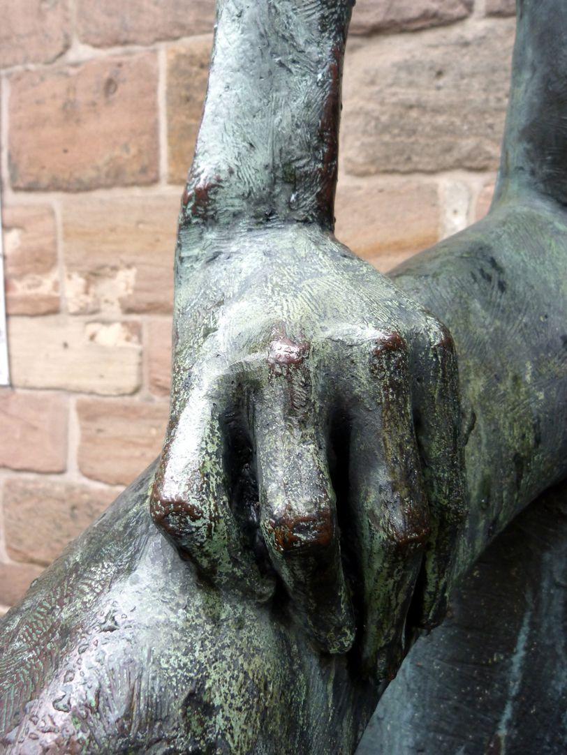 Hiob linke Hand