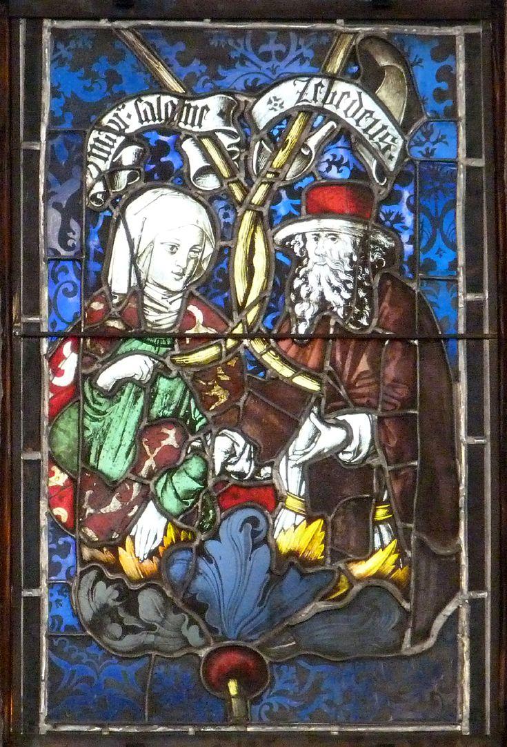 Hirschvogelfenster Heilige Sippe, Maria Salome und Zebedäus