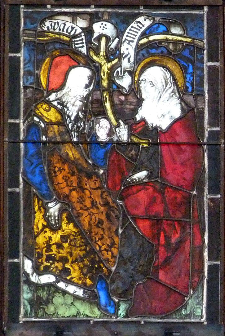 Hirschvogelfenster Heilige Sippe, Joachim und Anna