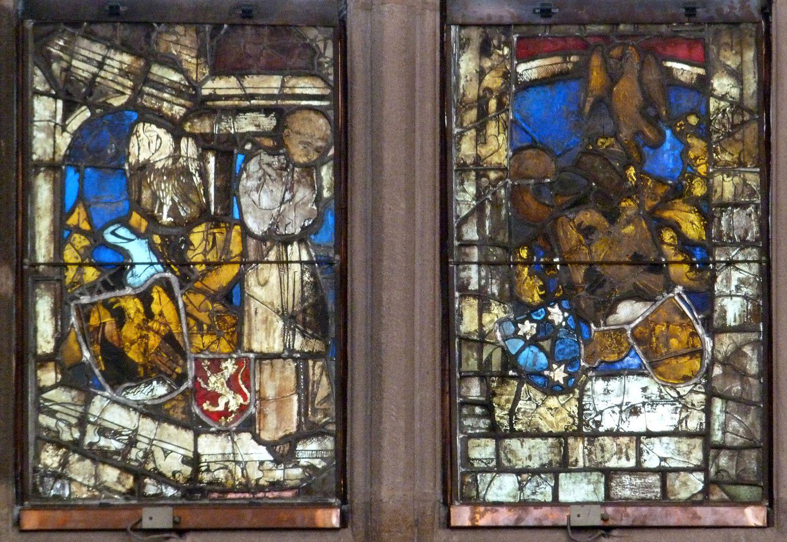 Hirschvogelfenster Älteste Fenster der Hirschvogel'schen Stiftung von 1456