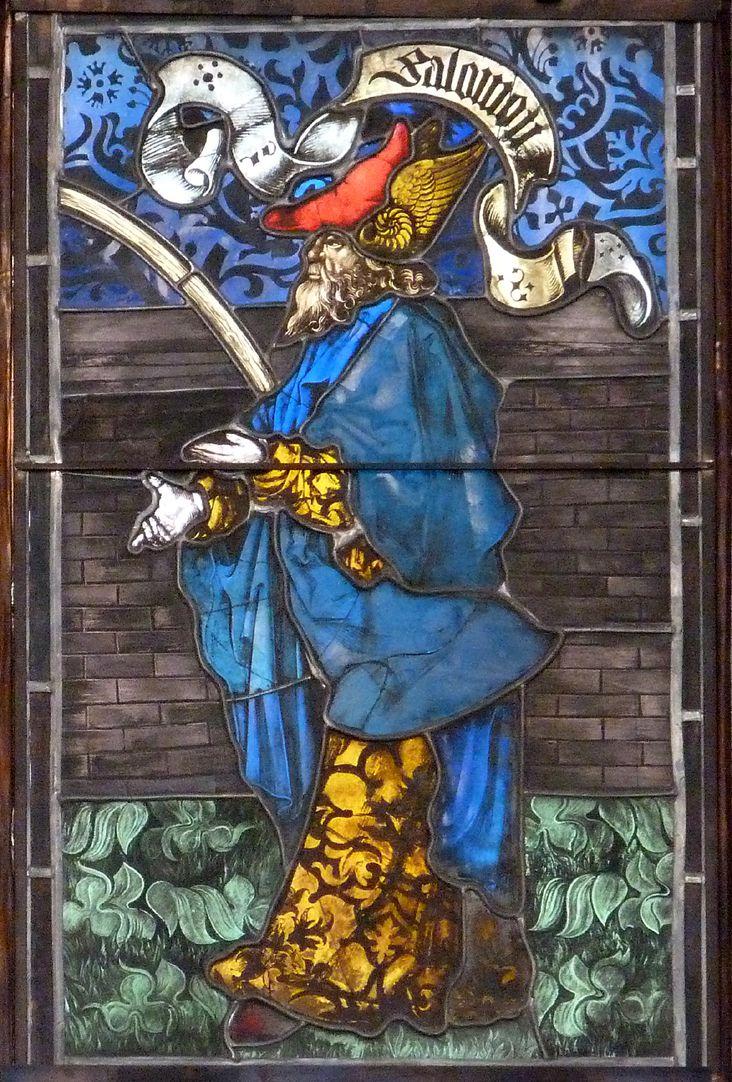 Hirschvogelfenster Heilige Sippe, Salomo