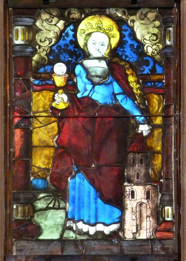 Hirschvogelfenster Hl. Barbara