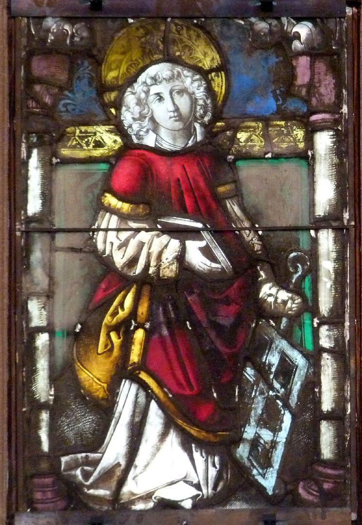 Hirschvogelfenster St. Lorenz mit dem Rost