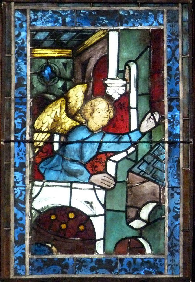 Hirschvogelfenster Fensterfeld aus dem Hl. Geist Spital um 1410