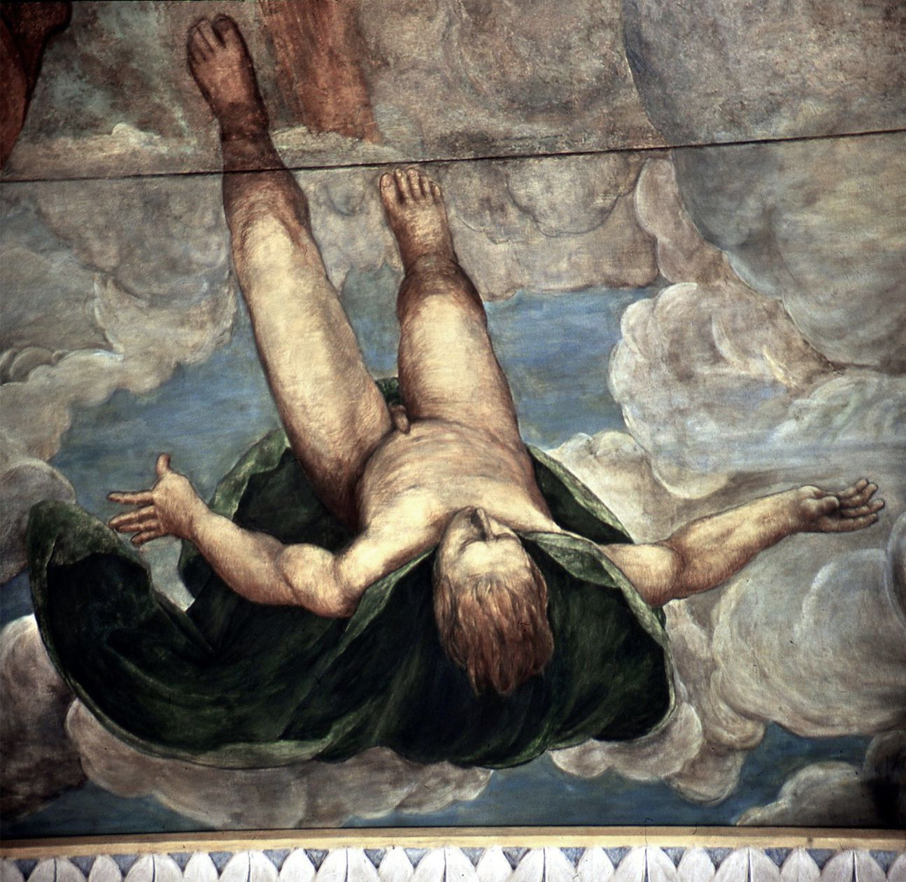 Der Sturz des Phaethon, Deckengemälde Decke, Detail: fallender Phaeton