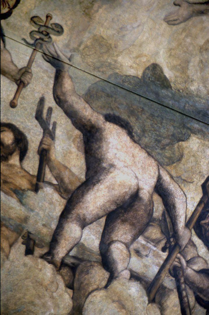 Der Sturz des Phaethon, Deckengemälde rechtes Bilddrittel, Detail