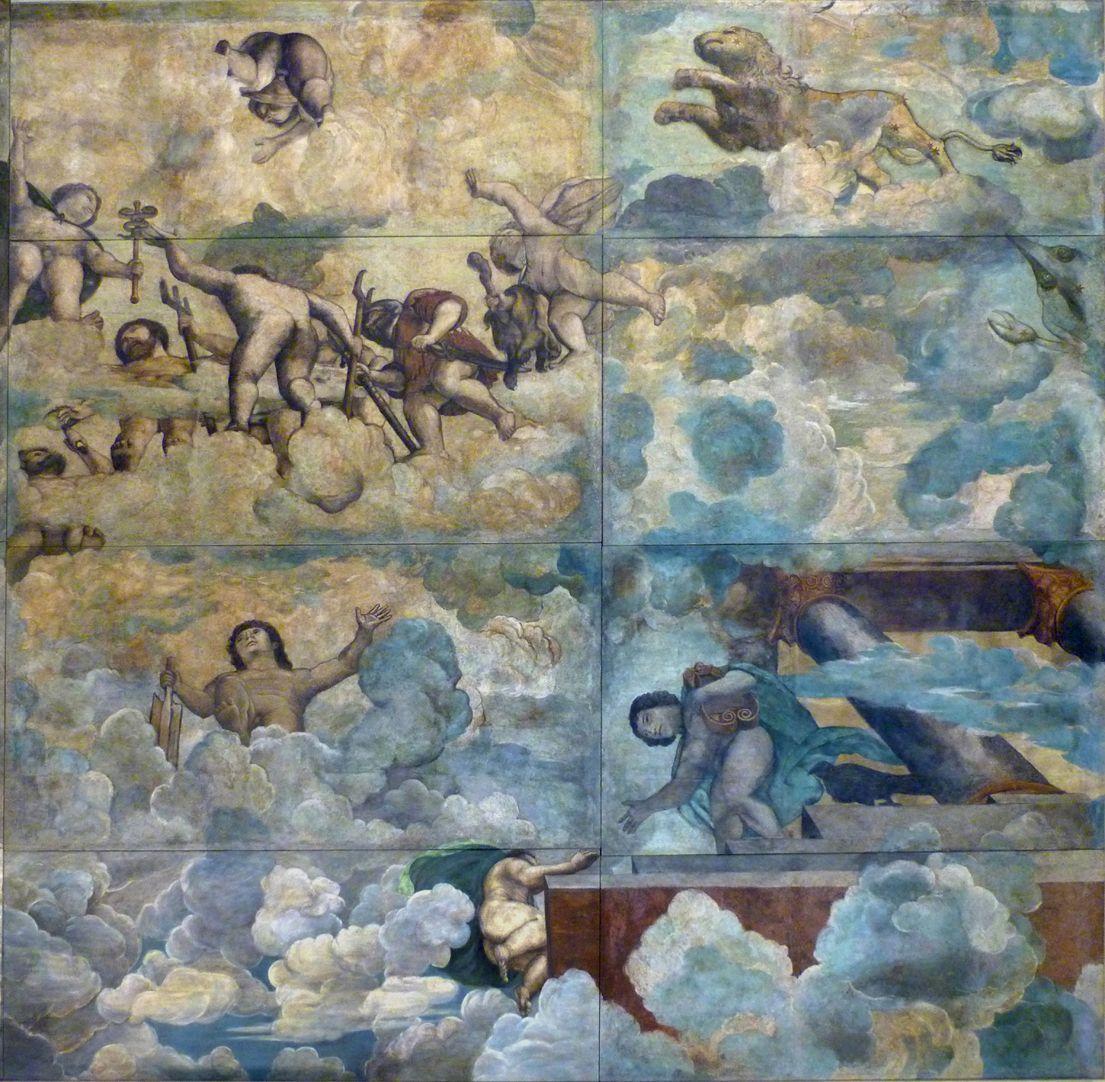 Der Sturz des Phaethon, Deckengemälde rechtes Bilddrittel