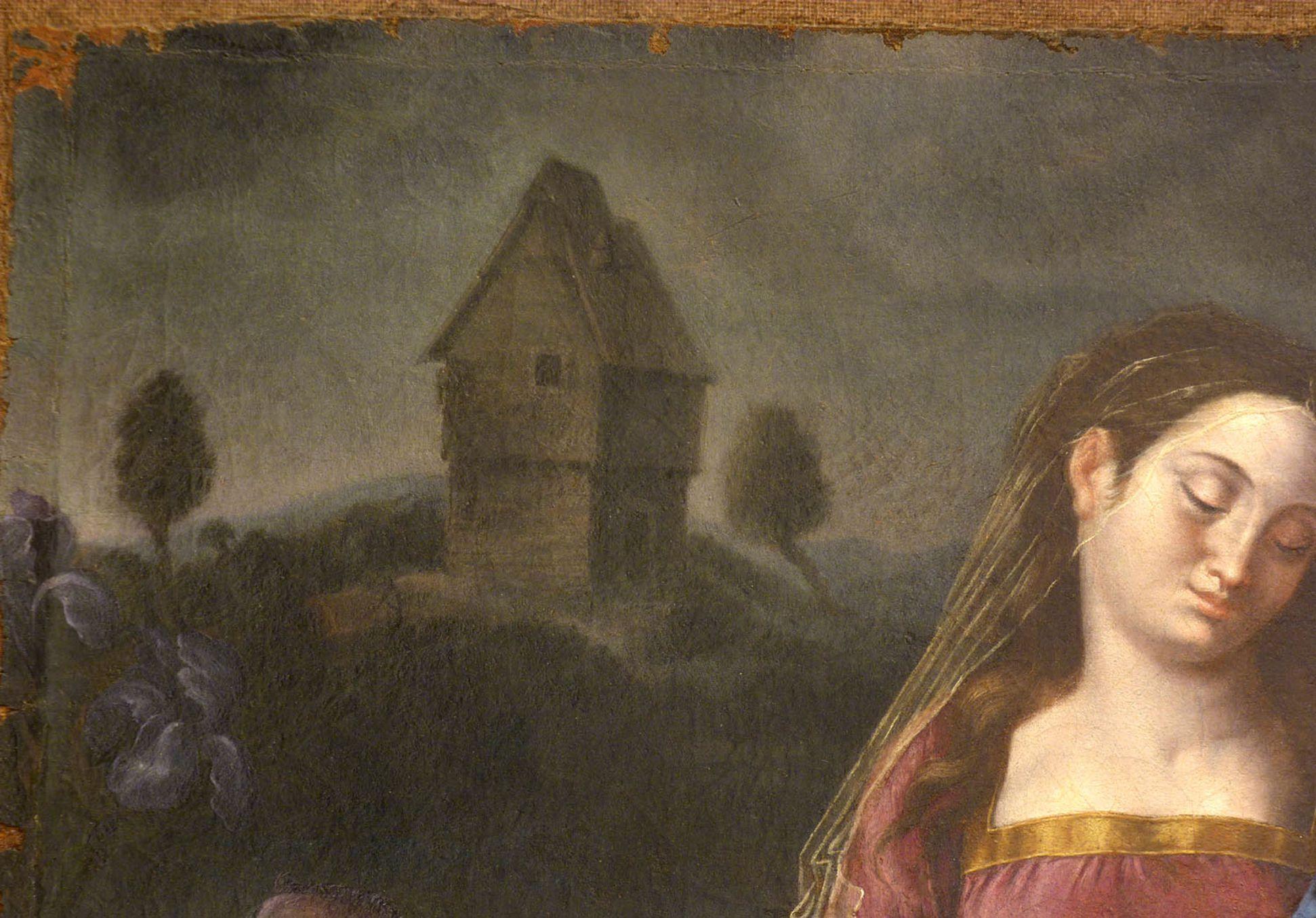 Madonna degli Animali Detail mit Nürnberger Weiherhaus