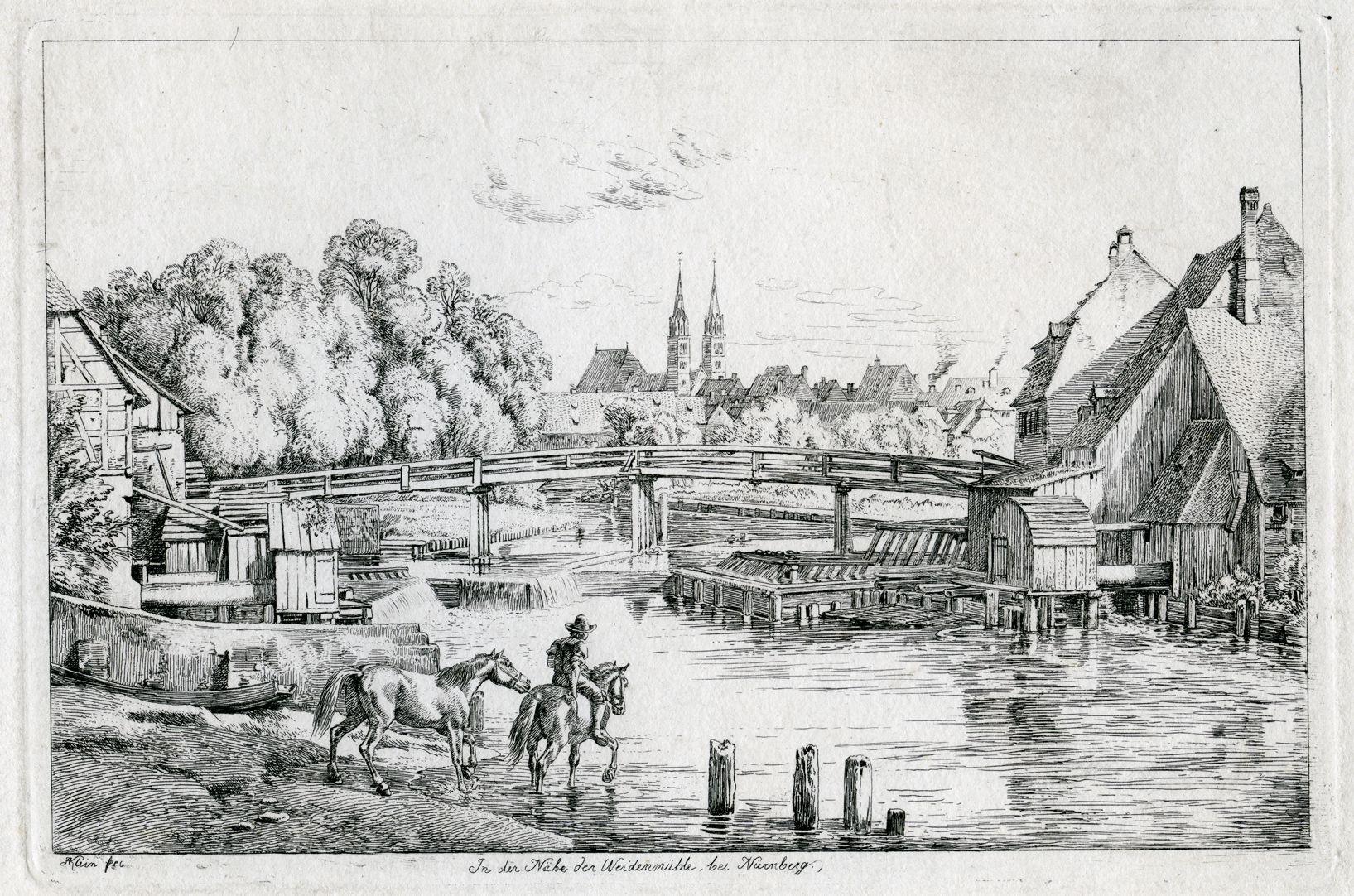 In der Nähe der Weidenmühle, bei Nürnberg Gesamtansicht