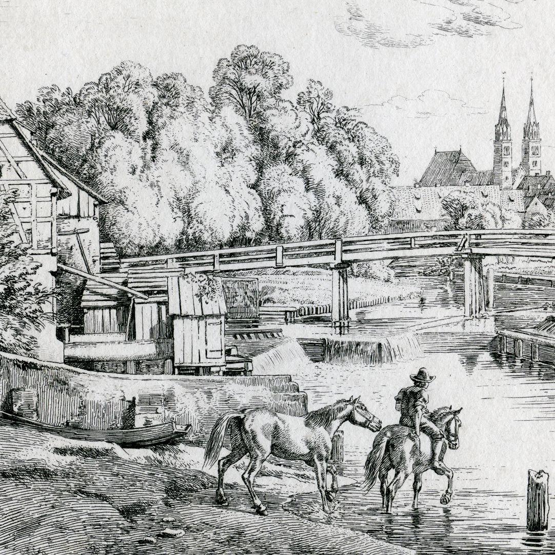 In der Nähe der Weidenmühle, bei Nürnberg linke Bildhälfte