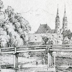 In der Nähe der Weidenmühle, bei Nürnberg