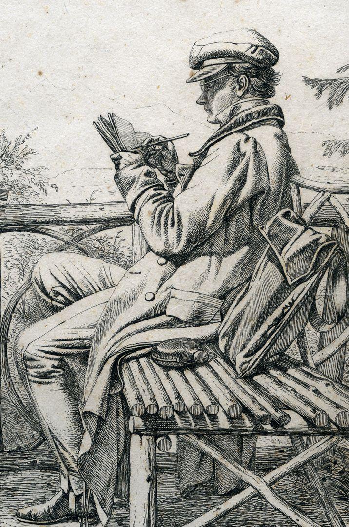 J.C. Erhard Portrait, mittleres Bildfeld