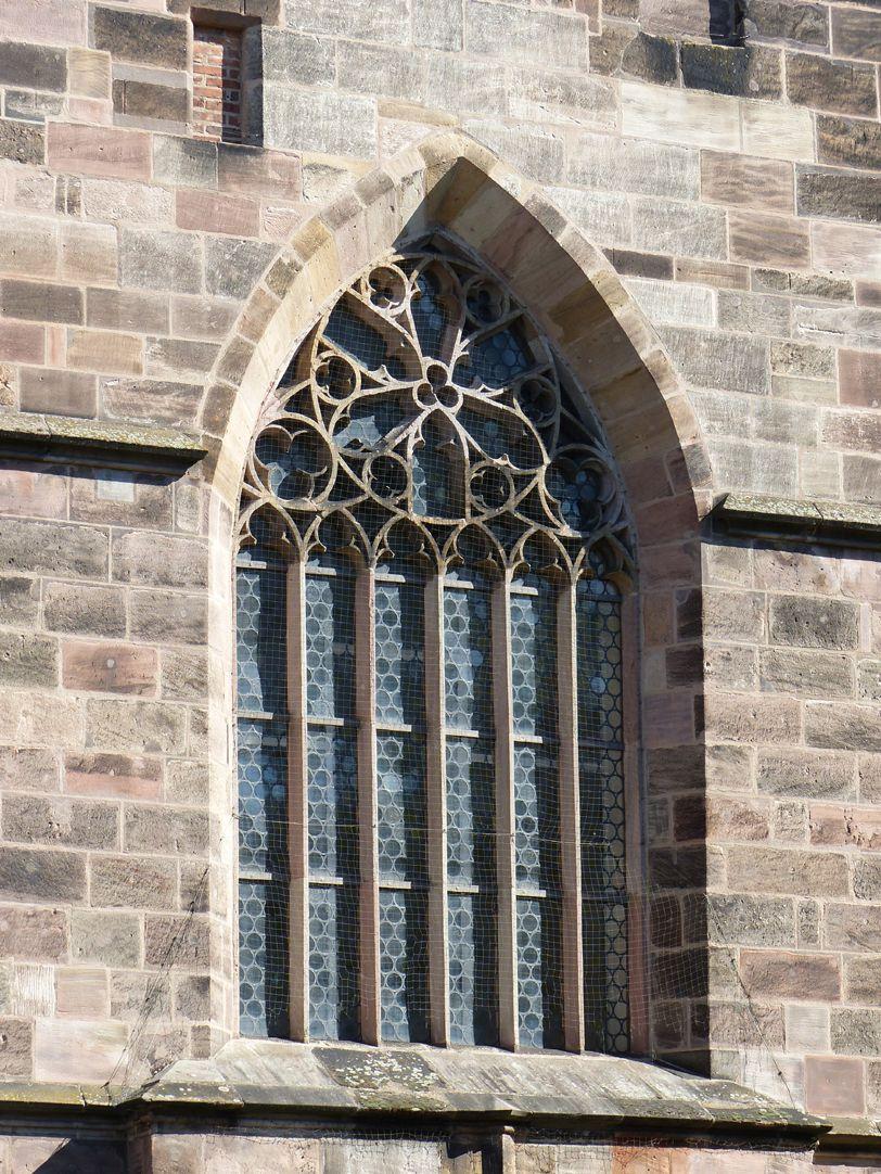 Entwurf zur Neugestaltung der Jakobskirche in Nürnberg Maßwerkfenster von Heideloff nach Kölner Muster