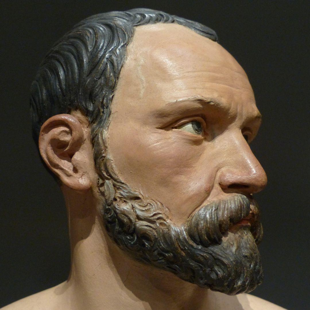 Selbstportrait Detail, Kopf