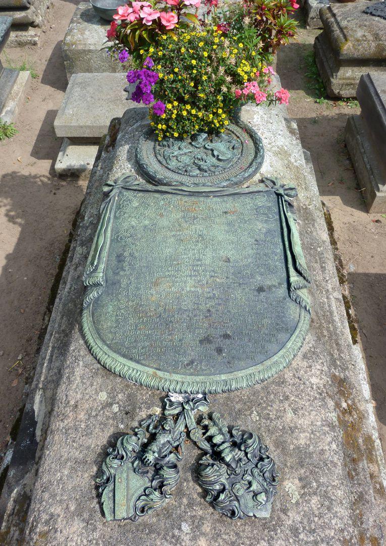 Johannisfriedhof, Grab 318/19 Sicht von oben