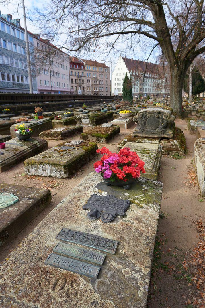 Johann Pachelbel Grabstätte Lage im Gräberfeld