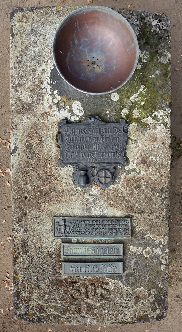 Johann Pachelbel Grabstätte Grabansicht von oben