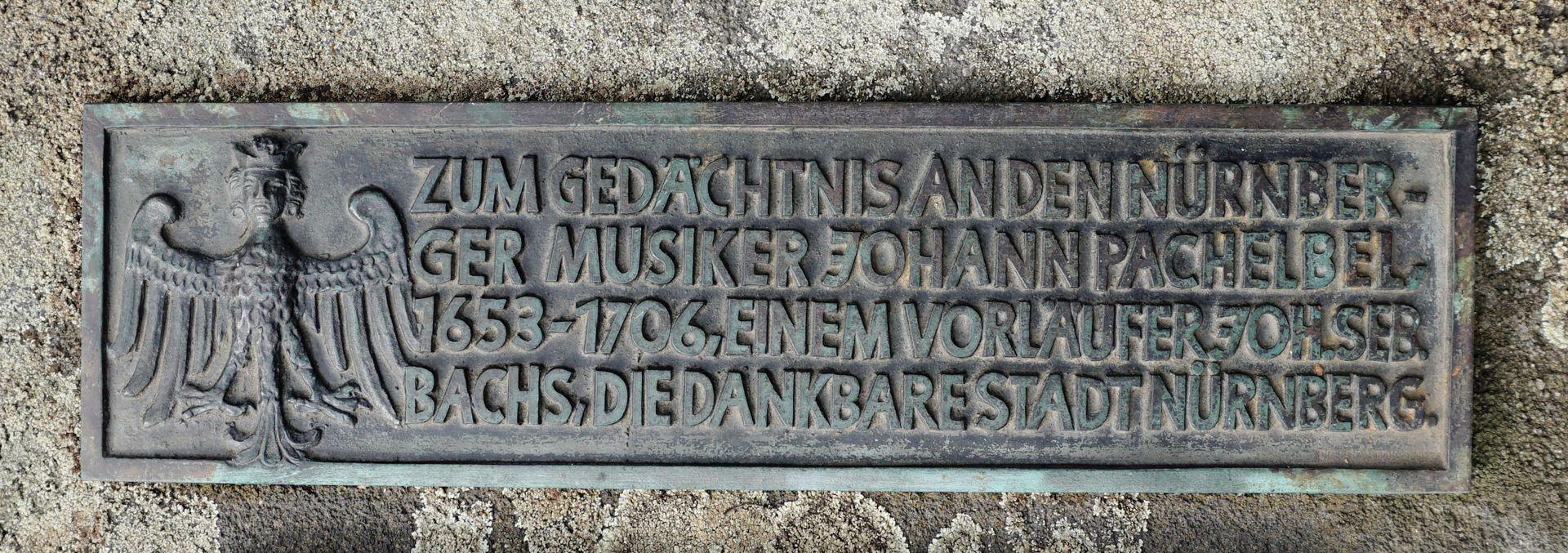 Johann Pachelbel Grabstätte Erinnerungstafel