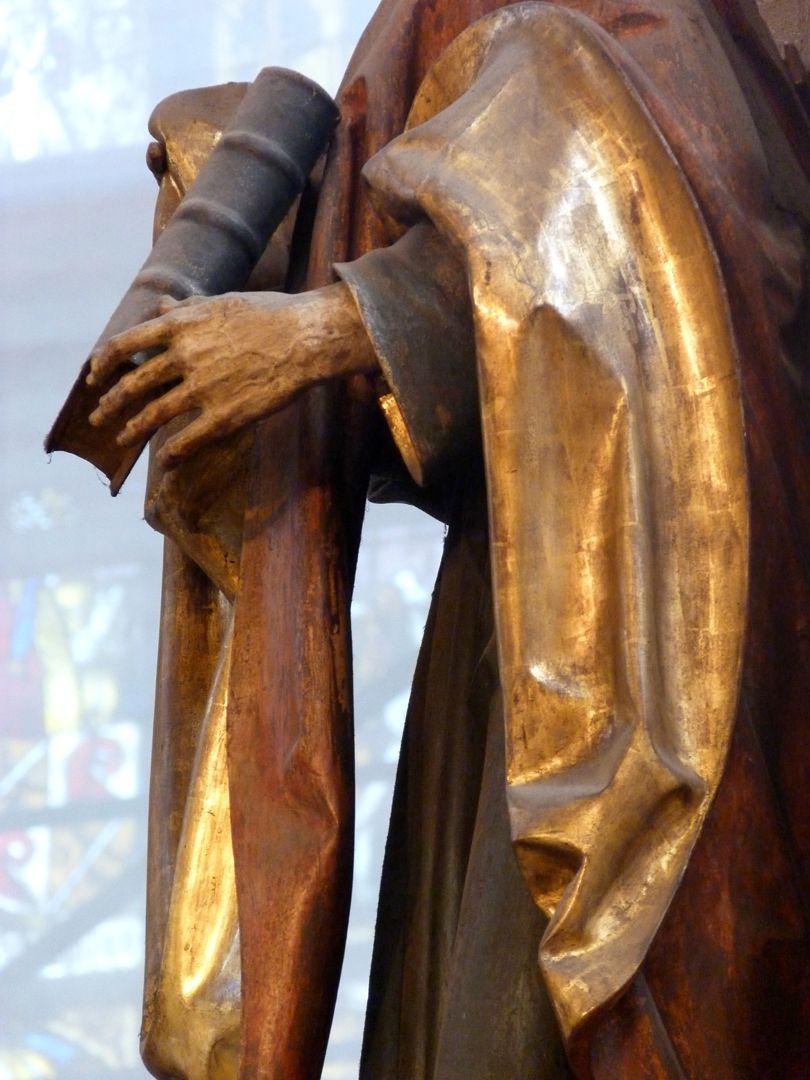 Assistenzfigur hl. Johannes, seitliche Ansicht, Detail