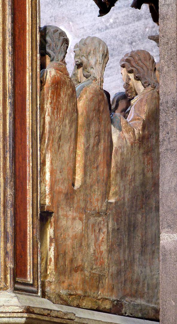 Johannesaltar (Altar der beiden Johannes) Rückansicht der Tonapostel