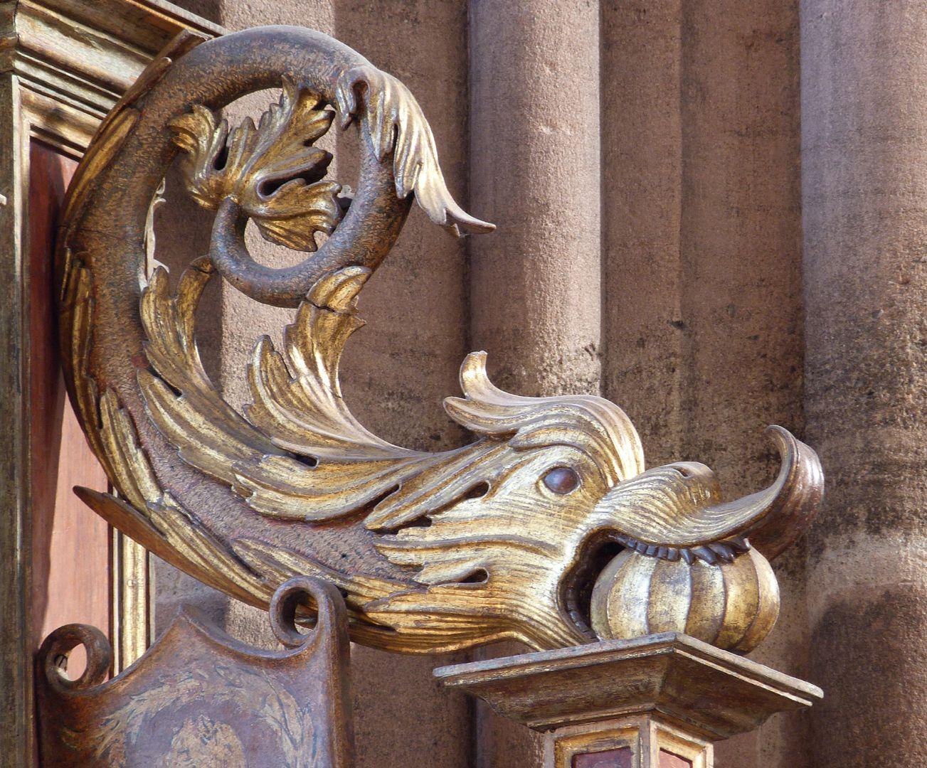 Johannesaltar (Altar der beiden Johannes) rechtes drachenartiges Fabelwesen