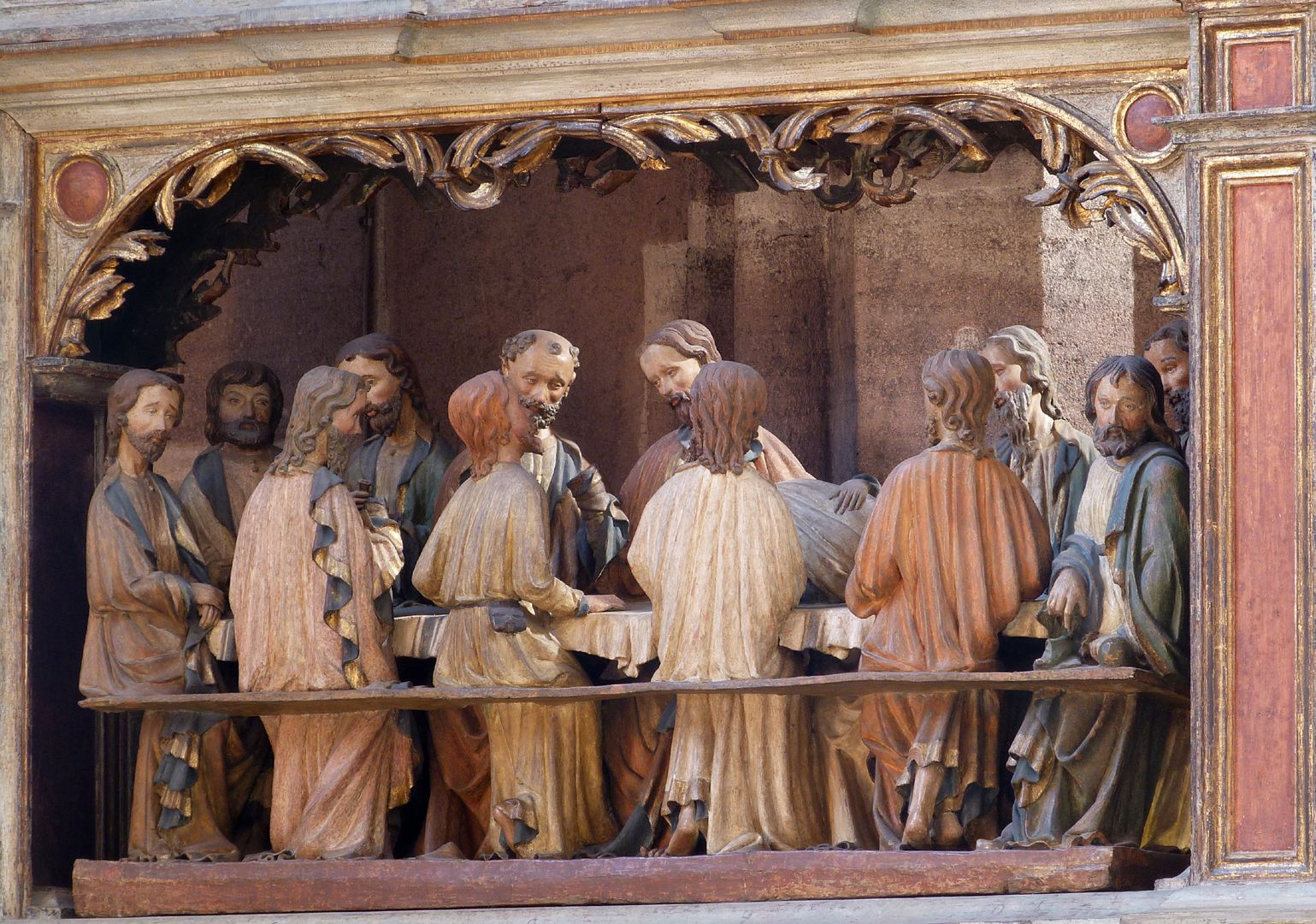Johannesaltar (Altar der beiden Johannes) Abendmahl, Gesamtansicht