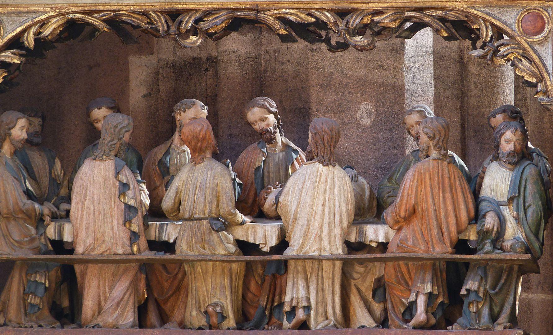 Johannesaltar (Altar der beiden Johannes) Abendmahlszene