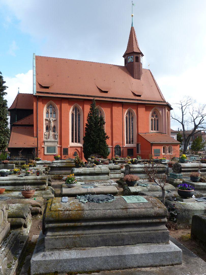 Der Handlungsdiener Begräbnis Tumba mit Südseite der Johanniskirche
