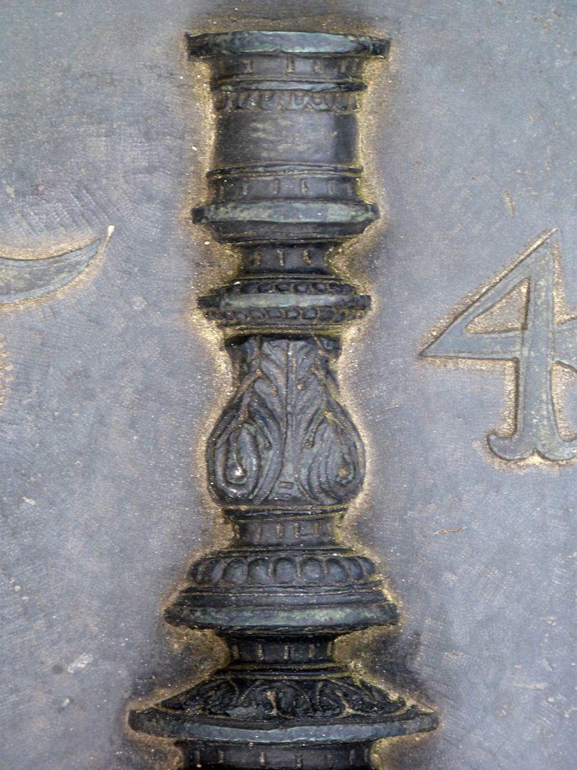 Epitaph des Hanß Parterum Tischleuchter, obere Hälfte