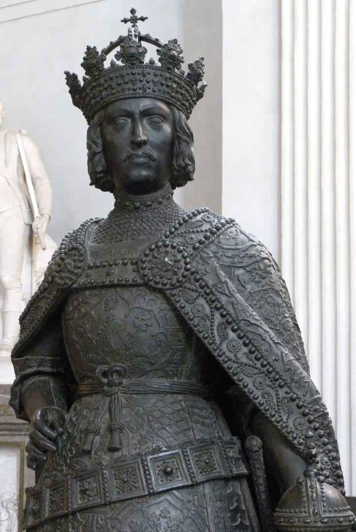 Albrecht II. (Innsbruck) Oberkörper, Schrägansicht