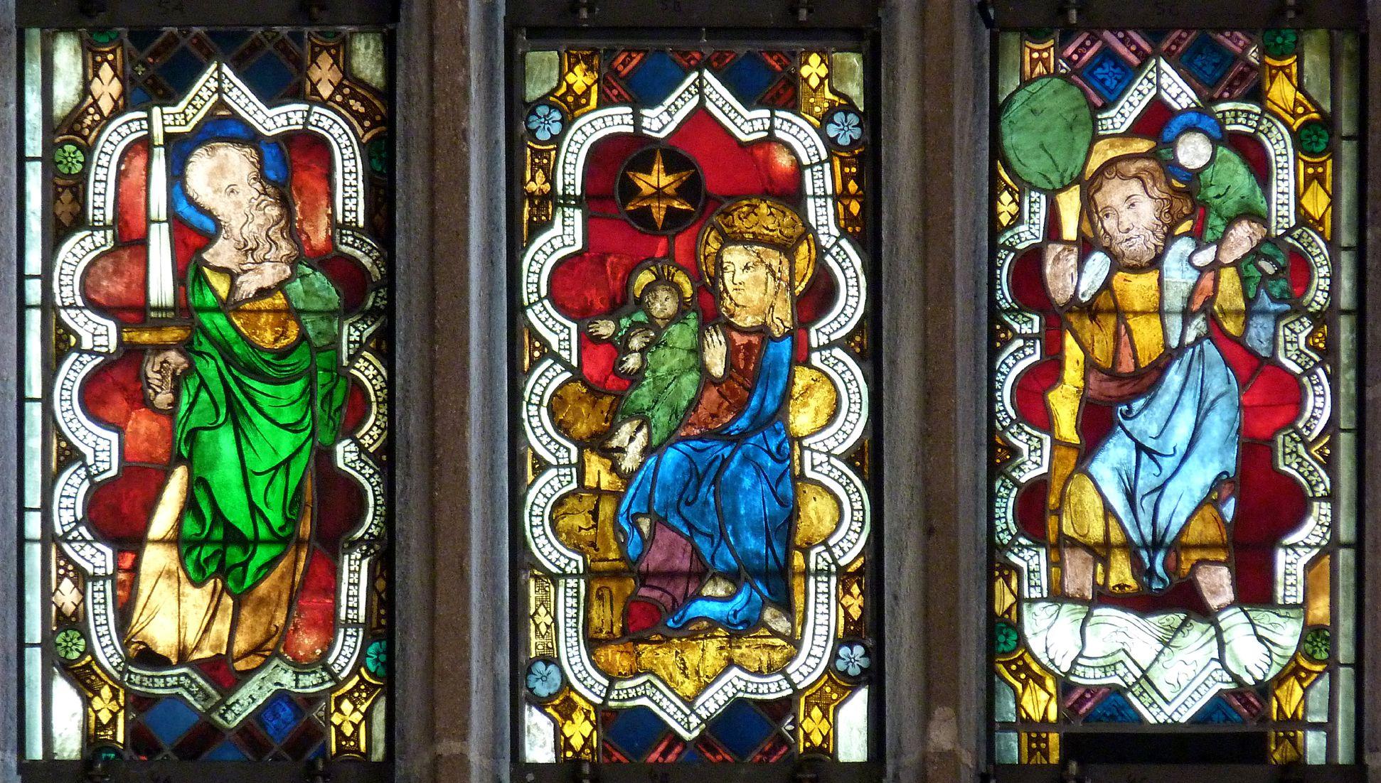 Kaiserfenster Originalscheiben des sog. Kaiserfensters