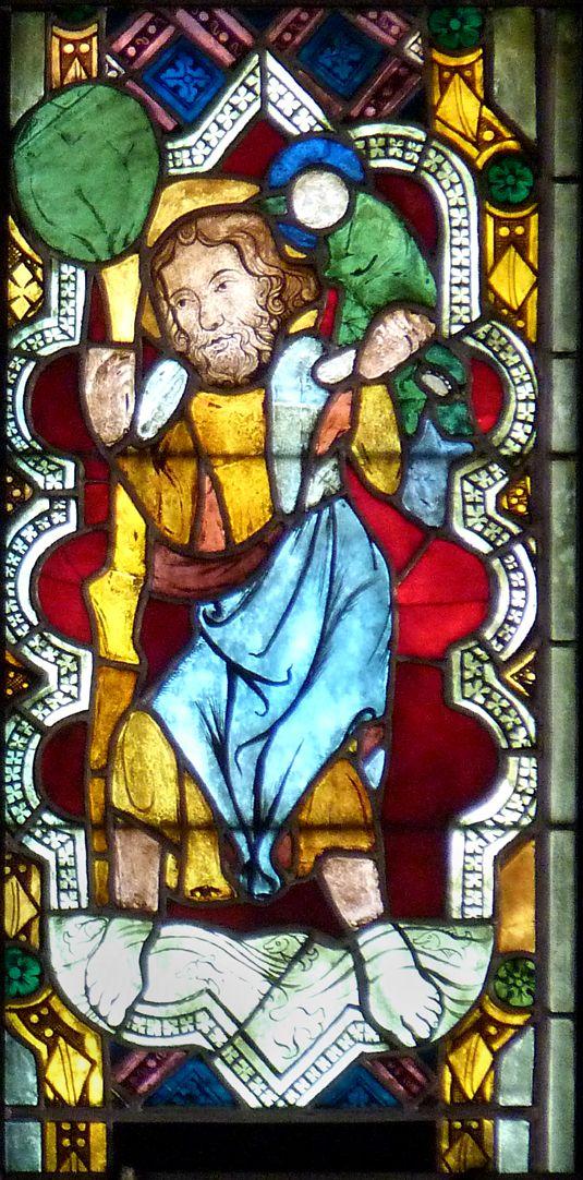 Kaiserfenster Darstellung des Hl. Christopherus im sog. Kaiserfenster